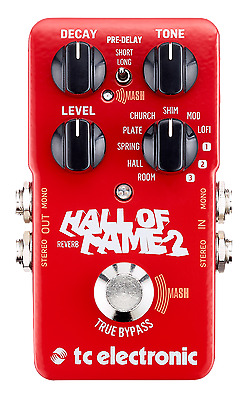 New TC Electronic Hall of Fame 2 Reverb Guitar Effects Pedal HOF
