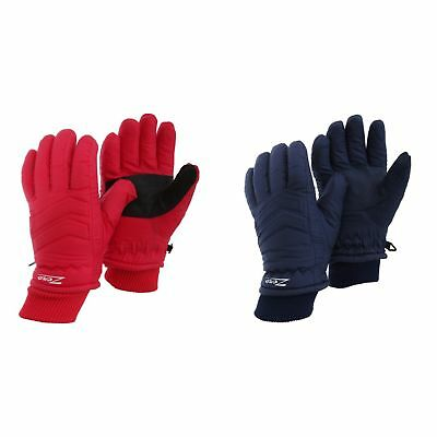Childrens/Kids Zero Waterproof Hollofil Ski Gloves With Palm Grip (GL538)
