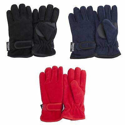 FLOSO Childrens/Kids Thermal Thinsulate Fleece Gloves with Palm Grip (GL114)