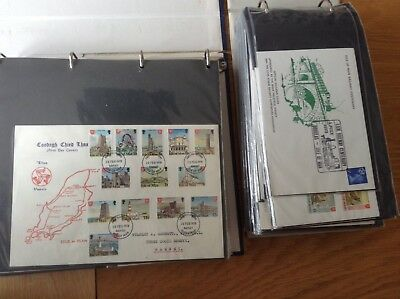 Collection Of 142 Isle Of Man First Day Covers 1973 - 1988