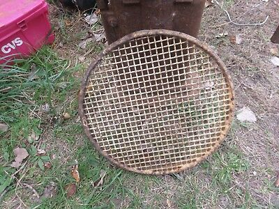 vintage industrial steel cast round grate steampunk LARGE barrell rustic grate