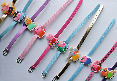 SHOE CHARM BRACELETS (F6) - inspired by PEPPA PIG, GEORGE, EMILY, CANDY, PEDRO