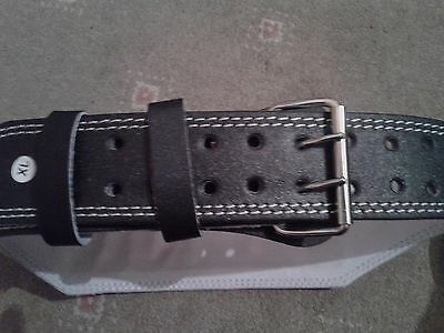 """Weight Lifting 4"""" Leather Belt Back Support Strap Gym Professional Fitness"""