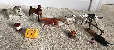 1999 Breyer Reeves Miniature Model Collectable Horses + Accessories
