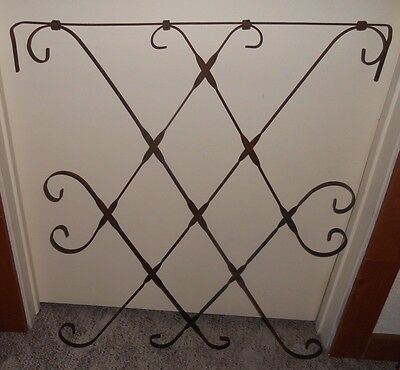 Vintage Scrolled Metal Door Gate Guard Trellis Architectural Parts Salvage Art