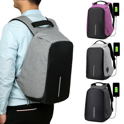 Anti-Theft Water Repellent Backpack USB Port Bobby Camera Laptop School Bag