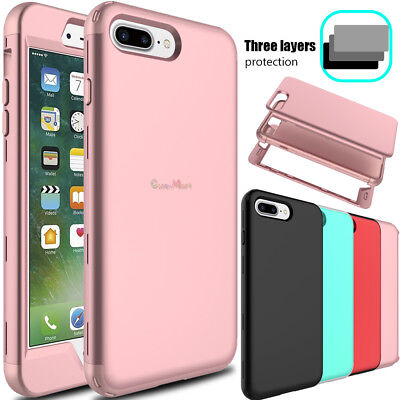 For iPhone 7/8 Plus Hybrid TPU Bumper Hard Shockproof Armor Full Back Case Cover