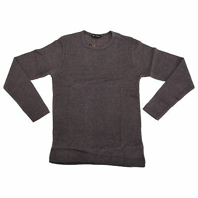 Childrens Boys Plain Thermal Long Sleeved Top (THERM148)