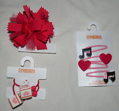 Gymboree Play By Heart Hair Accessories NWT UPICK music note hearts