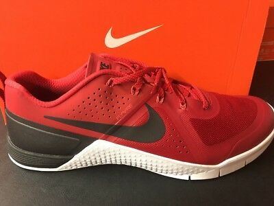 Nike METCON 1 Men s Cross Fit Training Shoes Red Black White 704688 616 Size 15