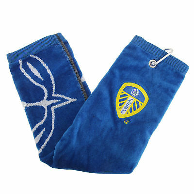 Leeds United FC Official Trifold Football Crest Golf Club Towel (SG598)