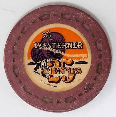 1953 Westerner .25 5th Edition Casino Chip Las Vegas, NV