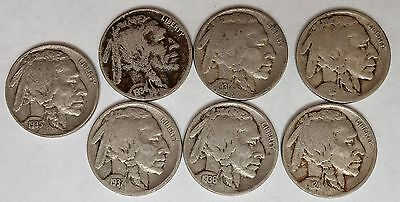 1924-P 1925-P 1930-P 1934-P 1935-P 1936-P 1937-P Buffalo Nickels Clear Dates