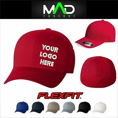 Personalized Custom made fitted Flexfit hat cap Custom Embroidered your logo