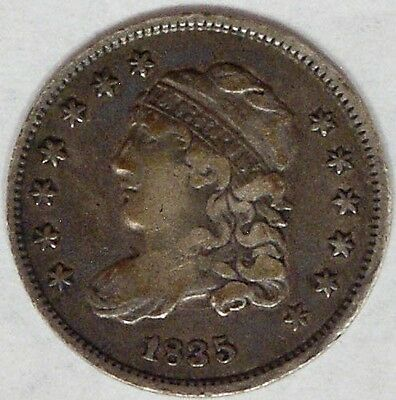 USA 1835 Capped Bust Half Dime Super Nice Very Fine++