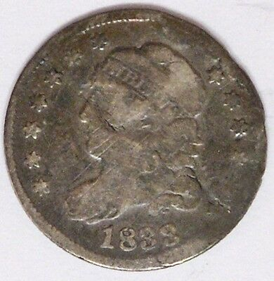 USA 1833 Capped Bust Half Dime About Good Damage