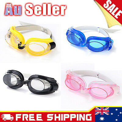 Kids Children Adjustable Swimming Swim Anti-Fog UV Glasses Goggles Boys Girls
