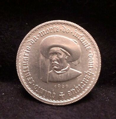 1960 Portugal silver 5 escudos, Henry the Navigator, nice bright UNC, KM-587