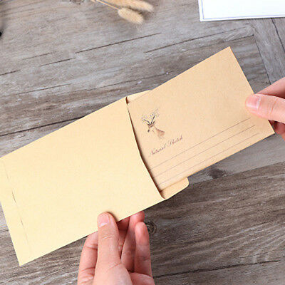 5pcs Cute Deer Envelopes Greeting Cards 10pcs/lot Letter Writing Paper