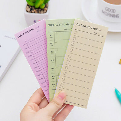 Day Week Month Planner Lists Note Daily Memos Pad Planner Stickers Sticky Notes