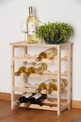 Wine Bottle Rack Holder Stand Shelving System Cabinet For 16 Bottles Kitchen Bar