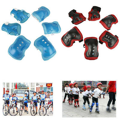 4-16 Years Kids Roller Skating Knee Pads Elbow Wrist Pad Protective Gear Sets