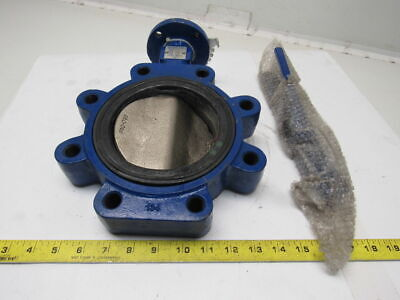"Keystone AR2 5"" Cast Iron Butterfly Valve Stainless Stem & Iron Disc W/Handle"