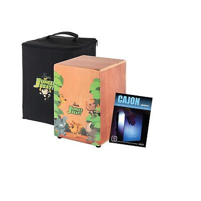 Percussion Cajon Drums Educational Snare Drum Box Music Toy Kids Seat Stool Case