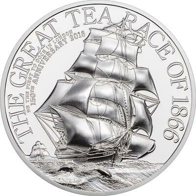 Cook Inseln - 10 Dollar 2016 - The Great Tea Race of 1866 - 2 Oz. Silber PP