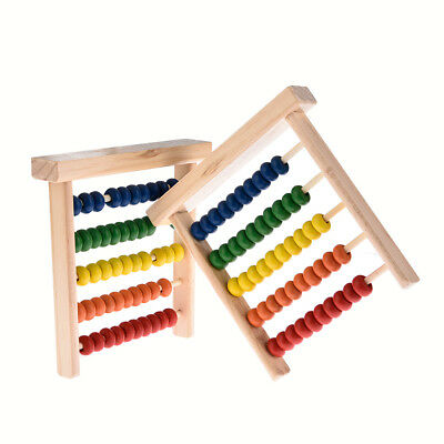 Wooden Children Toy Bead Abacus Counting Number Frame Educational Maths
