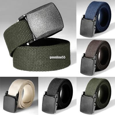 Nylon Canvas Breathable Military Tactical Men Waist Belt With Plastic Buckle UK5
