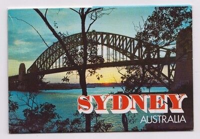 Postcard Sydney NSW 13 view fold out type Harbour Bridge, Opera house, Coogee