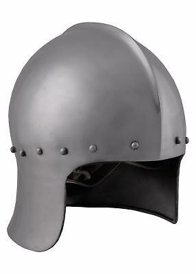 English Archer Helmet, 15th Century, Steel with Leather Liner - late medieval