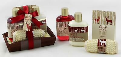 Badeset ONCE UPON A WINTER 4-tlg  Body Lotion Duschgel Badesalz Waschlappen Musk