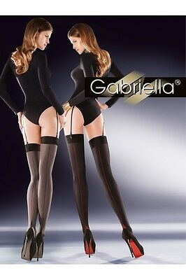 STOCKINGS 50 DEN Patterned size S M L Gabriella  Cruze