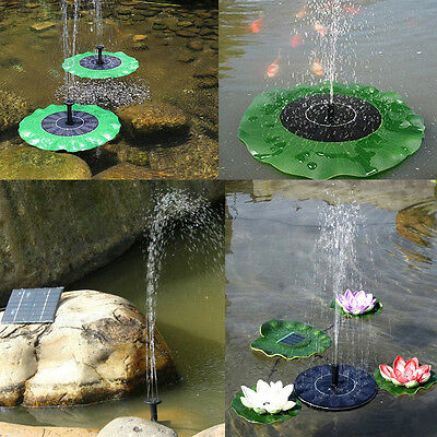 Solar Fountain Floating Lotus Leaf /Mini Water Pump Artificial Outdoor Fountain