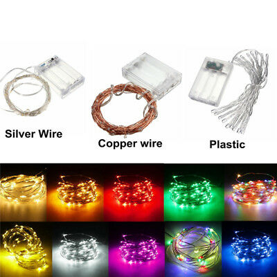2-10M USB Battery Solar 12V LED Silver Copper Wire String Fairy Light Waterproof