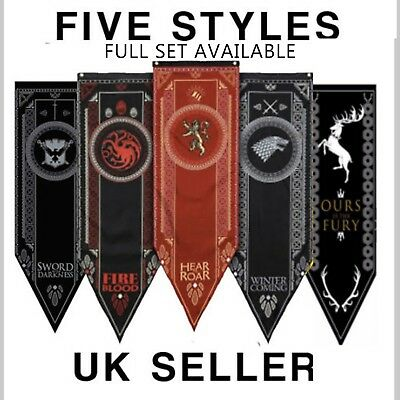 Game of Thrones House Banner Flag Wall Hanging Drape Stark Targaryen Lannister
