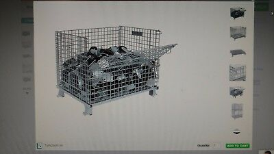 """wire storage cages-collapsible-stackable--8--- 50"""" x 40"""" x36"""""""