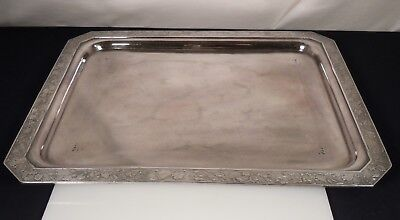 "Antique Aesthetic Silver Plated Tray 16.75"" x 13.5"""