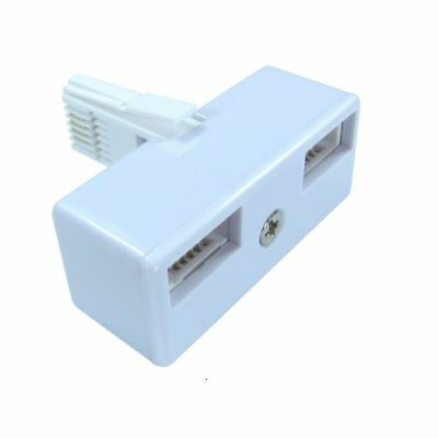 BT Telephone Phone Socket Double Adaptor 2 Way Adapter Splitter By Lloytron