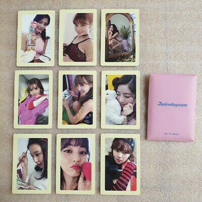 TWICE Likey TWICETAGRAM 1st Album Pre-Order Official Photocard 9 Sheets