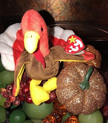 TY Beanie Babies Turkey ** GOBBLES **  New w/ Tag Born Nov 27, 1996