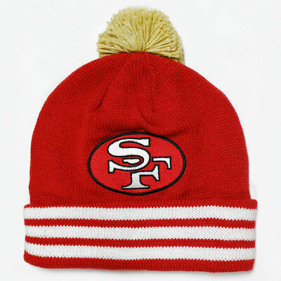 SAN FRANCISCO 49ERS Knit Beanie Hat Cap MITCHELL   NESS Two Tone Rev ... 48d0d5eef