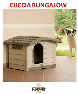 Cuccia Per Cani In Plastica Bungalow Bama Beige Medium/large