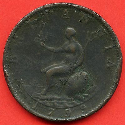 1799 Great Britain Half Penny Coin