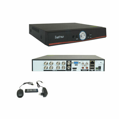 XVR DVR IBRIDO CLOUD 5in1 AHD CVI TVI CVBS IP 8 CANALI UTC FULL HD 1080P P2P HDM
