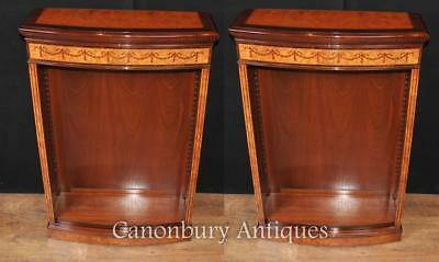 Pair Regency Open Front Bookcases Sainwood Walnut