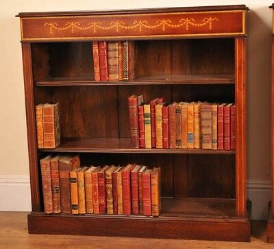 Single Sheraton Regency Bookcase Open Front Low Bookcases