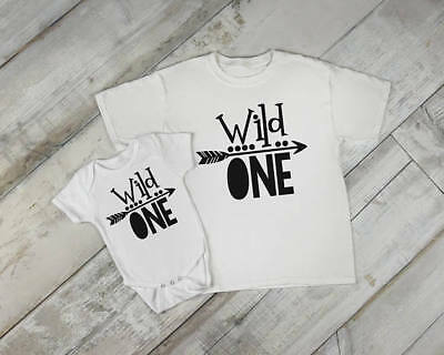 Wild One Year Old Baby Birthday Boy Toddler Clothes Romper 1st Birthday Tribal